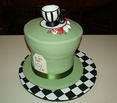 Mad Hatter Cake | by ToodlesJupiter  This with the tea cup to the side and a tea pot beside it...with the mouse of course!
