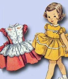 1950s Darlin Toddler Dress Pattern Unused 1954 Simplicity Sewing Pattern Sz 1 | eBay