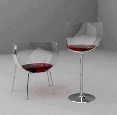Sillas copas de vino