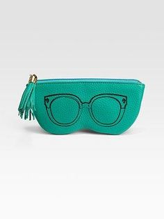 Pebbled Leather Sunglass Case.