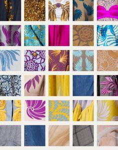 Coordinated Chaos at Dries Van Noten | The Cutting Class. Dries Van Noten, SS16, Paris, Fabric swatches part 1.