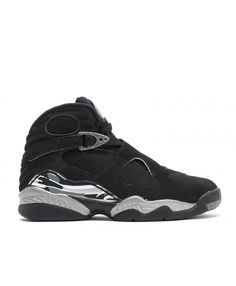 981e6263b6d804 Air Jordan 8 Retro Chrome Black White Lt Graphite 305381 003