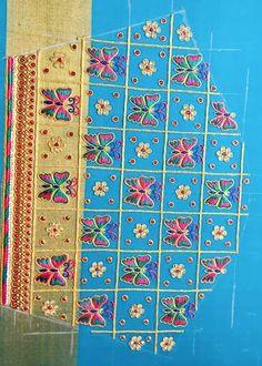 Saree Kuchu Designs, Wedding Saree Blouse Designs, Pattu Saree Blouse Designs, Blouse Designs Silk, Designer Blouse Patterns, Hand Work Blouse Design, Stylish Blouse Design, Hand Work Embroidery, Hand Embroidery Designs