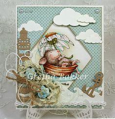 """Het kaartenhoekje van Gretha: House Mouse """"Daisy Float"""""""