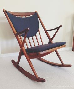 Restored Frank Reenskaug rocking chair