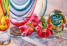 Art of Joyce Roletto Faulknor Kids Watercolor, Watercolor Fruit, Watercolor Flowers, Watercolor Paintings, Watercolors, Guy, Funny Kids, Art Lessons, Flower Art