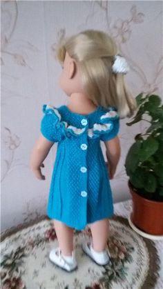 Вязанные платьица для кукол Готц / Одежда для кукол / Шопик. Продать купить куклу / Бэйбики. Куклы фото. Одежда для кукол