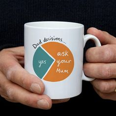 Dad Decisions Mug – Funny Father's Day Mug – Funny Birthday Gift for Dad – Dad Retirement Gifts Dad decisions mug – the perfect gift for the Dad who just can't say no! Funny dad gift, fathers day gift, dad birthday gift, ask your Mum Diy Gifts For Dad, Funny Gifts For Dad, Diy Father's Day Gifts, Father's Day Diy, Funny Dad, Dad Gifts, Diy Christmas Gifts For Dad, Birthday Present Dad, Father Birthday Gifts