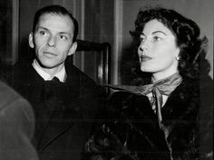 Ava Gardner, pictured here with her husband, Frank Sinatra, was one of the actresses who w...
