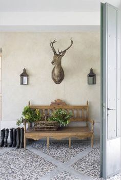 I came across this very chic home in Spain designed by Isabel Lopez Quesada.  I love the rustic wood and natural touches like the river stones above.  Definitely looks like a mix of Belgian and Swedish design than anything Spanish but it seems to work. I'm surprised we don't see more of this talented interior […]