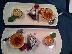 Jane Hammond Events - San Francisco, CA, United States. Trio Of Desserts, Dessert Trio, Delicious Desserts, Jane Hammond, Catering Food, Catering Ideas, Plate Presentation, Sample Menu, Christmas Snacks
