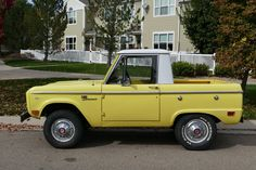 This 1968 Ford Bronco Sport Half Cab is a 3-owner, 52k-mile Colorado example powered by its original 289 V8 and 3-speed manual. It has an older repaint in a non-original color but retains original uncut fenders, factory drum brakes and dual fuel tanks. Low-mile Bronco half cabs aren't common, especi