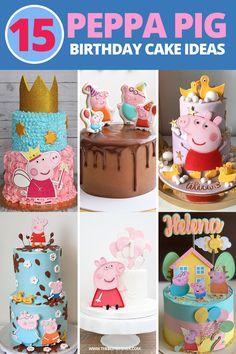 15th Birthday Cakes, Peppa Pig Birthday Cake, 2nd Birthday Party For Girl, 4th Birthday, Cumple Peppa Pig, Birthday Cake Decorating, Birthday Decorations, Peppa Pig Party Ideas, Cake Designs