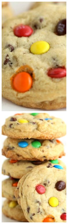 M&M Chocolate Chip Cookies ~ Thick and chewy and is full of flavor.