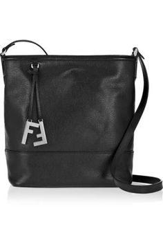 88758a3239 Textured-leather small bucket bag  shoulderbag  covetme  fendi love Classic  Handbags