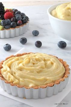 Coconut milk pastry cream is a great dairy-free and sugar-free dessert option.