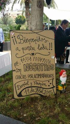 Cartel bienvenida boda #diy #boda #manualidades