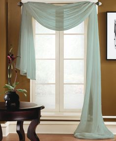 """Miller Curtains Sheer Preston Rod Pocket 48"""" x 216"""" Scarf Valance - Window Treatments - For The Home - Macy's"""