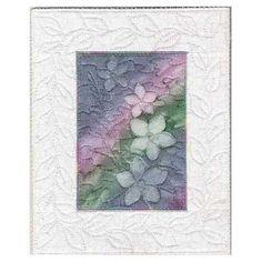 Rainbow Nicotiana Sunprint Art Quilt- 8x10 | AndrusGardensQuilts - Printmaking on ArtFire On sale through 3-2-2014, Save $12.00!