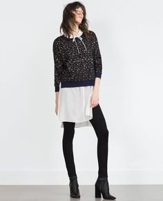 Image 1 of LEOPARD PRINT SWEATER from Zara