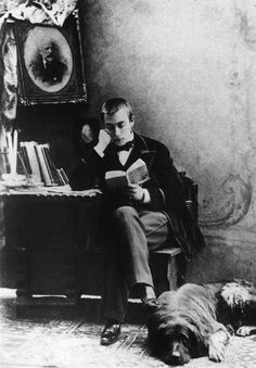young Rachmaninoff [and his dog Levko]