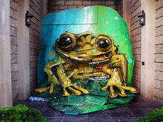 4 Street Art by Bordalo II in Baku Azerbaijão at From Trash To Art Festival - Street Art Utopia 3d Street Art, Urban Street Art, Amazing Street Art, Street Art Graffiti, Street Artists, Art Sculpture, Animal Sculptures, Urbane Kunst, Trash Art