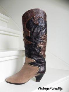 Vintage Arizona lams bont sleehak laarzen boots (1769
