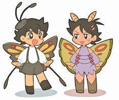 サトアゲハントとゴウドクケイルpic.twitter.com/1J8GtbjUk1 Ash Pokemon, Pokemon Ships, Pokemon Fusion, Cute Pokemon, Pokemon Cards, Pikachu, Ocarina Of Times, Manhwa, Innocent Child