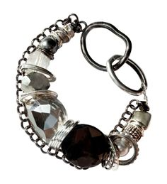 Checkout this amazing deal Black Silver and Shell Pearl Necklace - can be worn as bracelet,$85