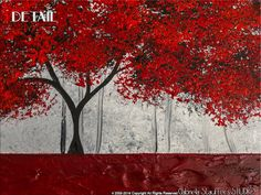 Abstract Painting Art Original Landscape Trees by by Catalin