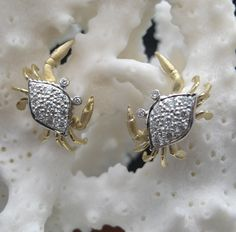 Denny Wong 18K crab pendant (can also be worn as a pin) with fresh water button pearl. Description from bluemarlinjewelry.com. I searched for this on bing.com/images