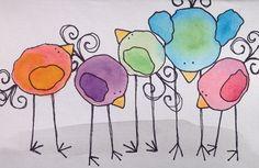Items similar to CUSTOM greeting cards- original watercolour with handmade envelope on Etsy Watercolor Bird, Watercolor Paintings, Watercolors, Wal Art, Art Postal, Bird Drawings, Drawing Birds, Cute Birds, Custom Greeting Cards