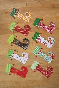 Kifli és levendula: Karácsonyi papírcsizmácskák