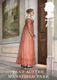 Angela Barrett : Jane Austen stamp, Mansfield Park.