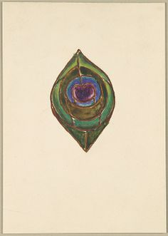 Louis Comfort Tiffany (American, 1848–1933). Design for peacock feather, 1902–10. Tiffany Studios (1902–32). American. The Metropolitan Museum of Art, New York. Purchase, Walter Hoving and Julia T. Weld Gifts and Dodge Fund, 1967 (67.654.419) #peacock