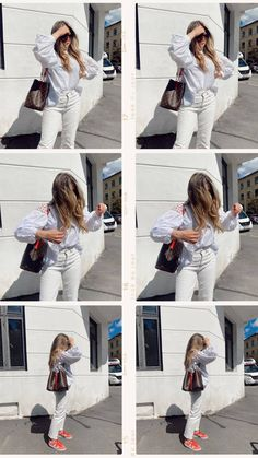 ELLE All White, Zara, Adidas, Jeans, Blouse, Jeans Pants, Blue Jeans, Denim Jeans