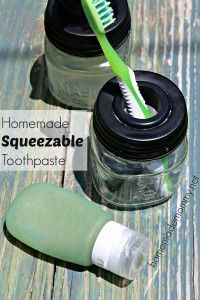 Homemade Squeezable Toothpaste. •3 Tbsp bentonite clay •2 tbsp coconut oil, at room temperature/liquid state •1 tsp whole ground stevia (this should be green not the white powder) •¾ tsp unrefined high mineral salt •1 tsp baking soda •3 Tbsp distilled water to thin, more as needed •1/4 tsp Thieves oil or any therapeutic grade essential oil you prefer.