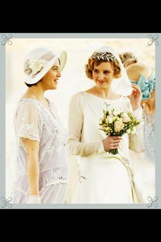 Weddings ..Edith and Sybil from Downton Abbey..