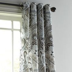 "Vibrant Paisley Natural 96"" Grommet Curtain | Pier 1 Imports"