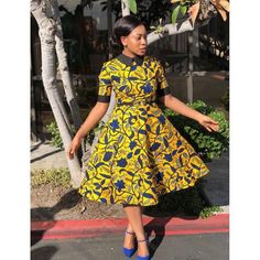 Latest Ankara Styles 2018 Style Inspiration: Get inspired and have your custom African print dress made by Tribe of Afrik Short African Dresses, Latest African Fashion Dresses, African Print Dresses, African Print Fashion, Ankara Fashion, Africa Fashion, African Dress Styles, African Prints, African Fabric