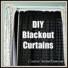 DIY fleece black out curtain. Think ill try this under my store bought black outs and see if it blocks 100% of the light.