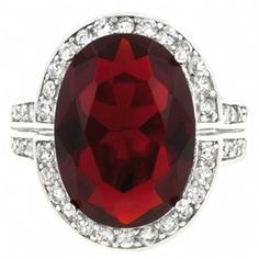 Was leaning towards having a character with her gem implanted.. . but the costume jewelry is sooooo tempting. . . .  Arielle's Fine Ruby Red Oval Shape CZ Cocktail Ring