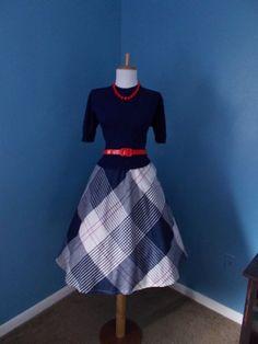 VINTAGE 1950s 1960s 1970s High Waisted Plaid Full Skirt. $19.99, via Etsy.