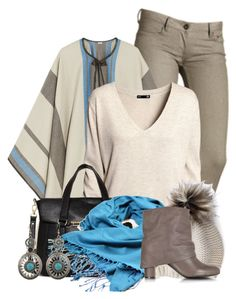 """""""Comfy Cape"""" by colierollers ❤ liked on Polyvore featuring Talitha, H&M, Danielle Nicole, Burke Decor, See by Chloé, women's clothing, women, female, woman and misses"""