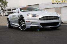 Savini Wheels BS2 Rims on this Aston Martin DBS grey