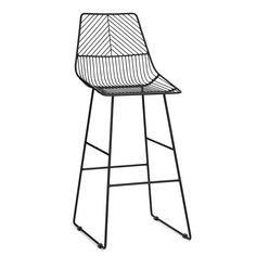 Siena Black Bar Stool | Dunelm