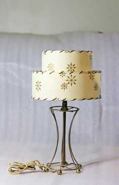 Mid Century Metal Lamp with Starburst by TheCuriousSquirrels