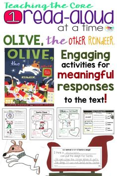 Such a great way to really dig deep into this book- Olive the Other Reindeer