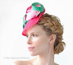 Hot Pink Royal Ascot Bright Pink Saucer Hat by Ella Gajewska HATS Hat  Blocks 9f76b870ff60