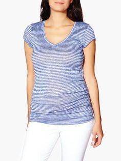 V-Neck Striped Maternity T-Shirt  available at #ThymeMaternity